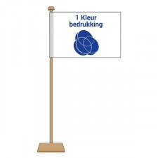 Tafelvlag 1 kleur 10x15 cm.